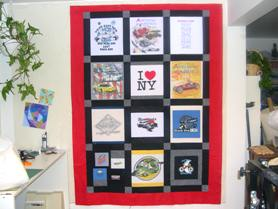 t-shirt quilt complete top