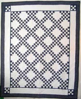 Double Irish Chain Quilt pattern , I teach classes how to make beautiful quilt
