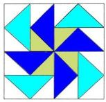 To Instructions for Dutchman's Puzzle Quilt Block