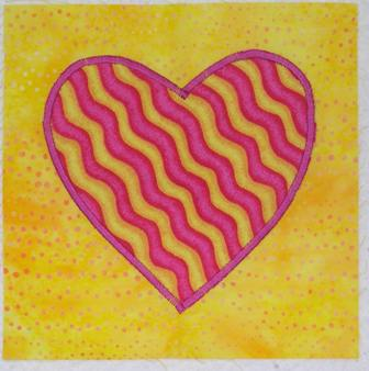 Fused Applique Techniques Tips Strawberry Ripple Heart
