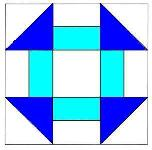 To Instructions for Hole in the Barn Door Quilt Block
