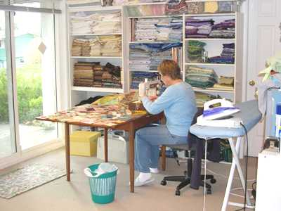 Quilter at Patchwork - Joan Sewing