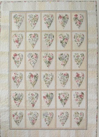 Romantic Hearts Quilt