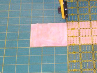 Rotary cutting Quilt fabric step 9
