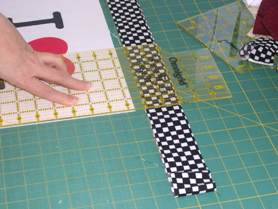 sashing a quilt block