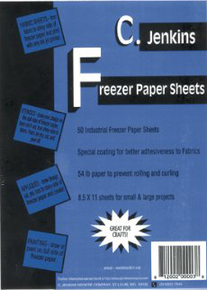 Freezer Paper Applique