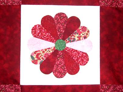 dresden plate quilt block Stars Over the Orient Quilt