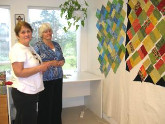 arranging quilt blocks on the design wall