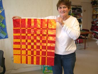 completed quilt top