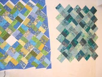 more quilt blocks on the design wall