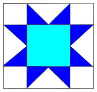 To Instructions for Sawtooth Star Quilt Block