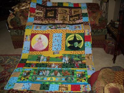 There are four collections combined into this quilt