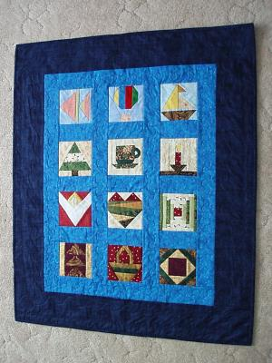 Small paper pieced quilt