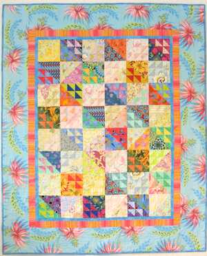 Tropical Madness - wild fabric for the border.